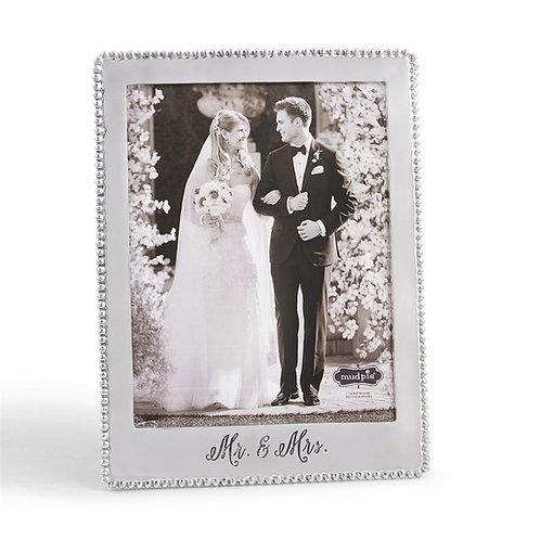 Mud Pie Mr. & Mrs. Microbead Frame