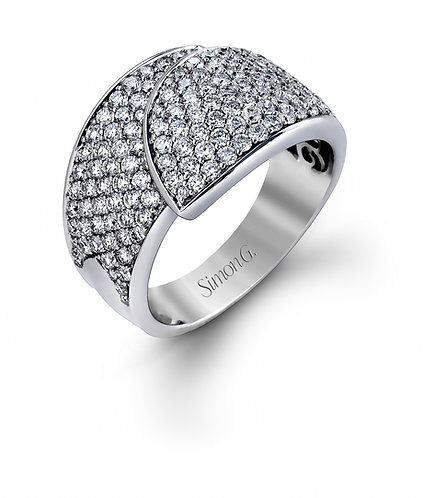 Simon G. DR296 White Gold Pave Diamonds Ring