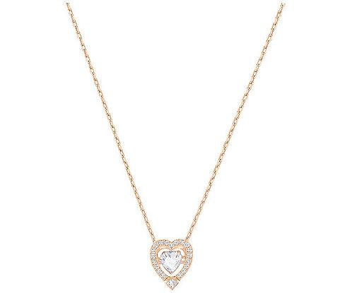 Swarovski Sparkling Dance Heart Necklace, White