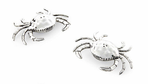 Mud Pie Metal Crab Salt and Pepper Set