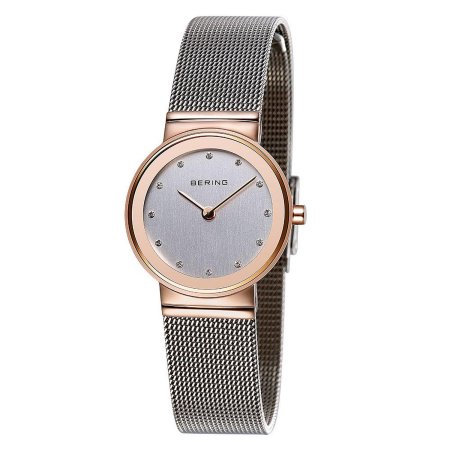 Bering Women's 25mm Steel Bracelet  Silver-Tone Analog Watch 10126-066
