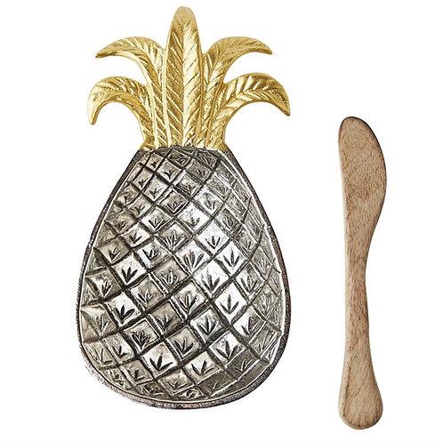 Mud Pie Pineapple Metal Bowl Set