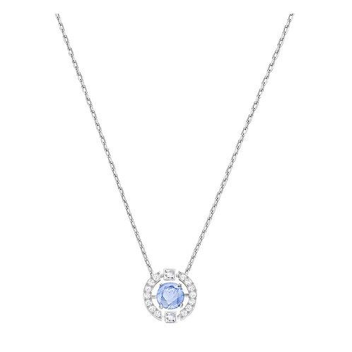 Swarovski Sparkling Dance Round Necklace, Blue