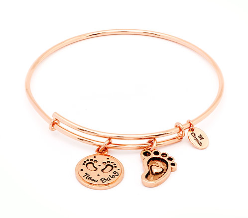 Chrysalis Friend & Family New Baby Expandable Bangle