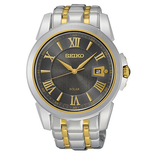 Seiko SNE398 Men's Le Grand Sport Two-Tone Bracelet Band Brown Dial Watch
