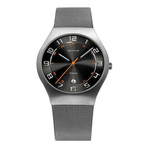 BERING Time 11937-007 Mens Titanium Collection Watch with Mesh Band and scratch