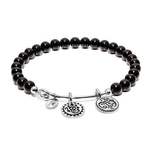 Chrysalis Black Onyx Lucky Ganesh Bangle