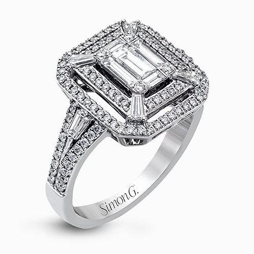 Simon G. LP2259 18K White Gold & Diamonds Right-Hand Ring
