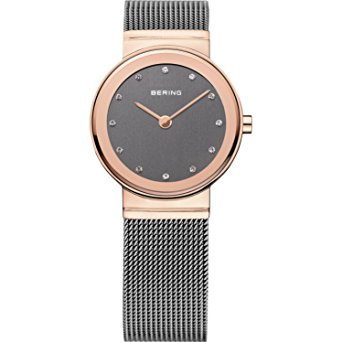 BERING Ladies' Time 10126-369 Classic Collection Watch with Mesh Band and scratc