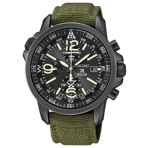 Seiko Men's SSC295 Analog Display Analog Quartz Green Watch