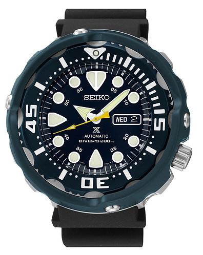 Seiko Prospex Automatic Rubber Strap Blue Hard Coat Men's Watch SRP653
