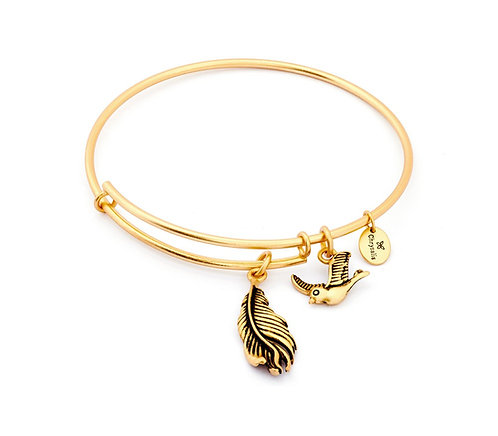 Chrysalis Spirited Virtue Feather Expandable Bangle