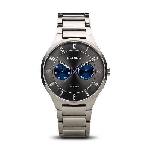 BERING Time 11539-777 Men's Full Titanium Collection Watch with Titan Link Band