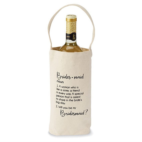 "Mud Pie Bridesmaid ""Ask"" Wine Bag Style 4295022"