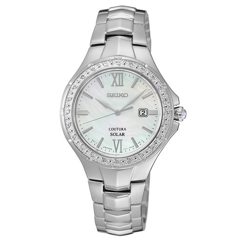 Seiko Women's SUT239 Coutura Analog Display Japanese Quartz Silver Watch