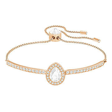 Swarovski Gently Pear Bangle, White