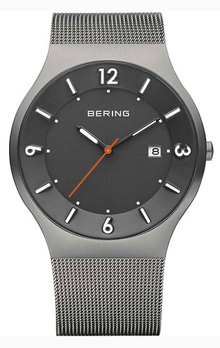 BERING Time 14440-077 Mens Solar Collection Watch with Mesh Band and scratch res