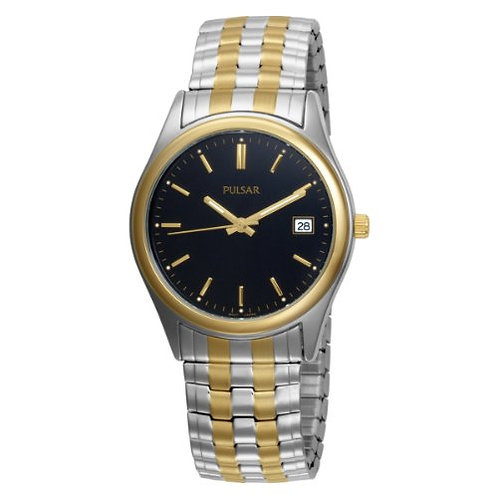 Pulsar Two-Tone Stainless Steel Stainless Steel Expansion Bracelet Watch 37mm PX
