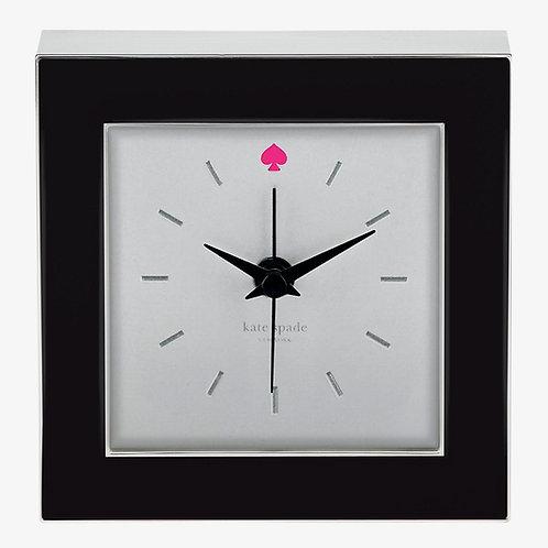 kate spade new york Cross Pointe Black Enamel Clock