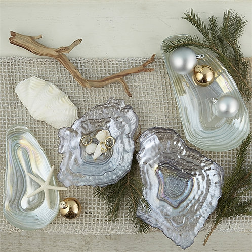 Lustrous Clam Plate - SMALL