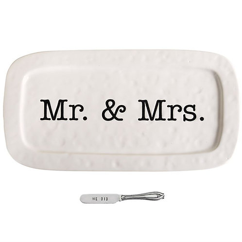 Mud Pie Wedding Hostess Tray Set