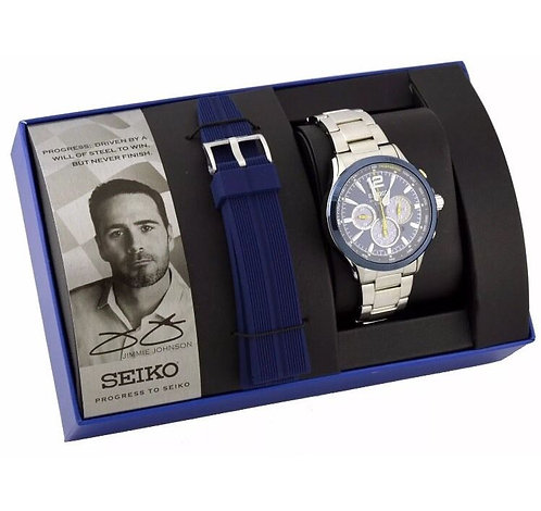 SEIKO SSC505 Jimmie Johnson Special Edition Solar Chronograph Watch