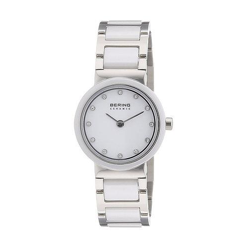 BERING Ladies' Ceramic 10725-754 Silver Watch
