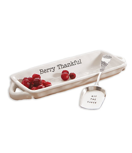 "Mud Pie ""Berry Thankful"" Cranberry Dish Set"