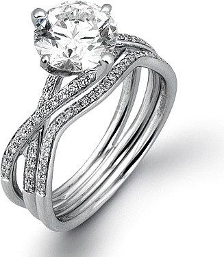 Simon G. White Gold with Diamonds Criss Cross Semi Mount