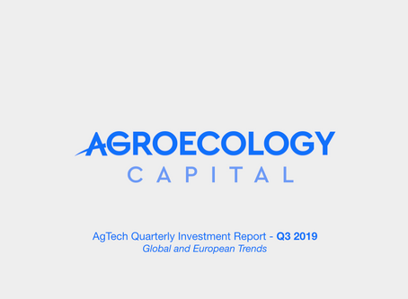 Global AgTech Investment Report 2019-Q3