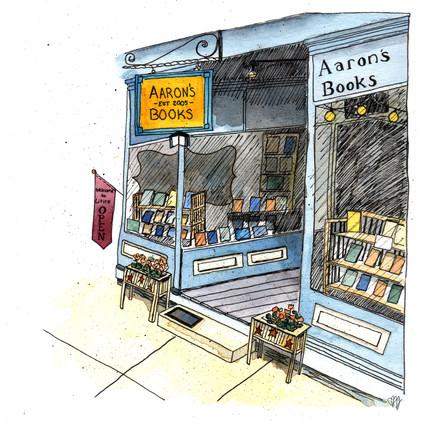 Urban Sketch: Lititz Aaaron's Books_1
