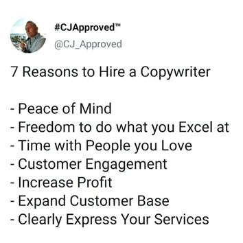 More than 1 Good Reason!