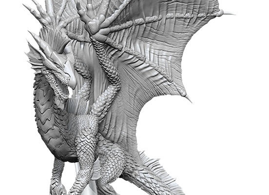 Dungeons & Dragons Nolzur`s Marvelous Unpainted Miniatures: Young Silver Dragon