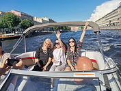 Boat trip on the river & canal's in Saint-Petersburg