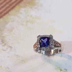 Blue Tanzanite & Diamond