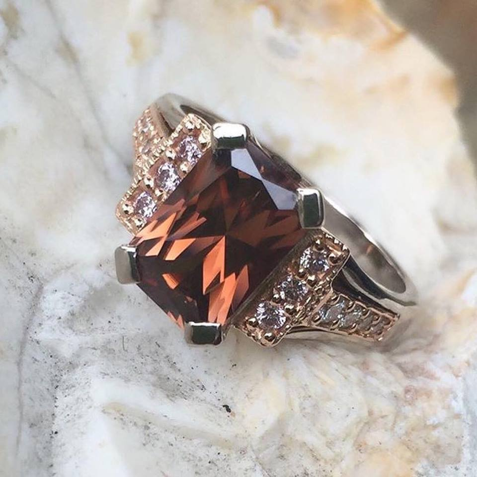 Cinnamon Zircon & Diamond