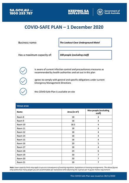 COVID-Safe Plan - 1 December 2020 - PG1.