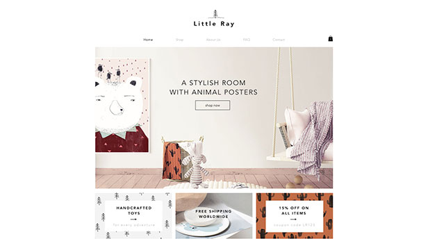 Barn & bebisar website templates – Barnwebshop