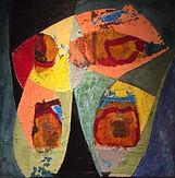 toile 60 x 60 octobre 19 technique mixte