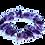Thumbnail: Amethist en verzilverd hematiet armband