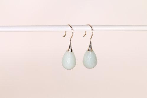 Amazoniet en zilver oorbellen Elegance