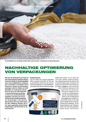 """Advertorial in """"Forum Nachhaltig Wirtschaften"""" für toom"""