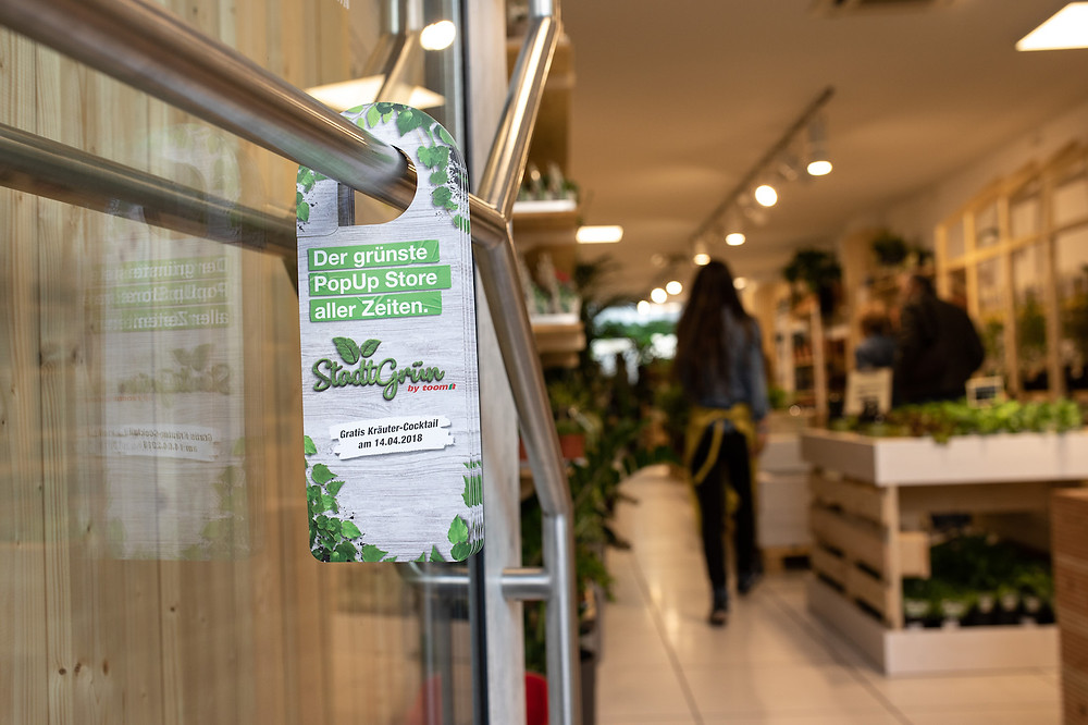 "Der grünste PopUp Store aller Zeiten: ""Stadtgrün by toom"". Copyright: toom"