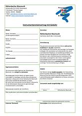 Instrumentmietvertrag mit Gebühr 2020-00