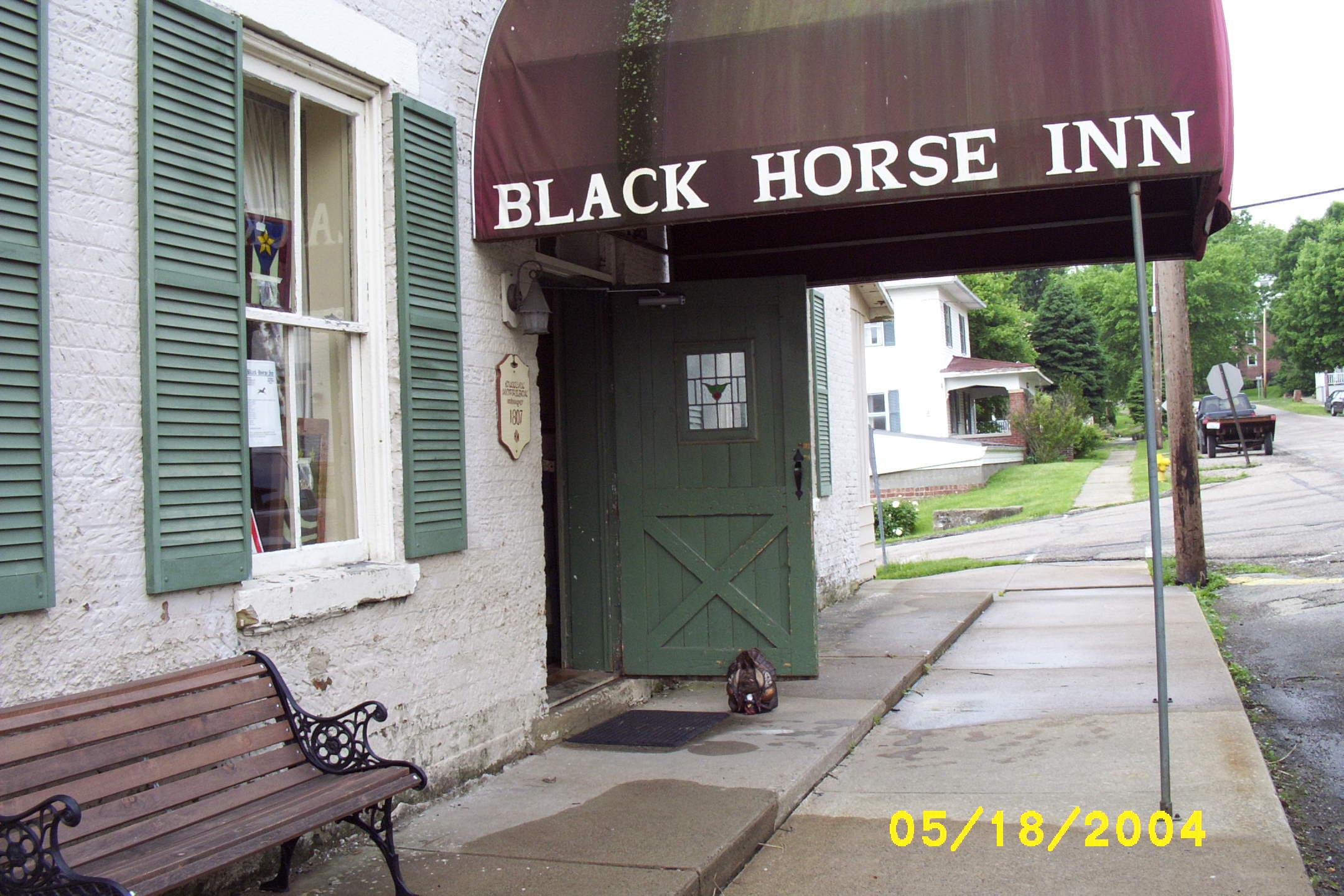 outside Blk Horse Inn