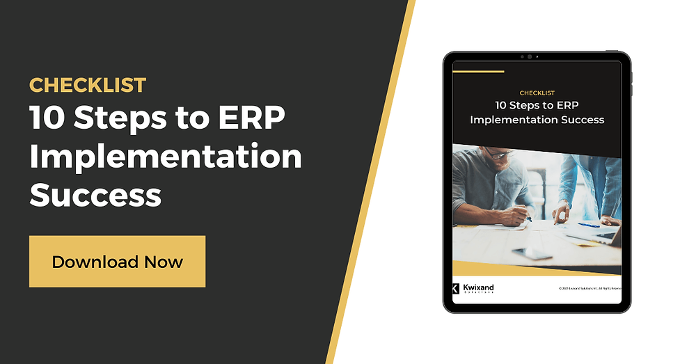 ERP Implementation Success Checklist