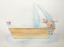 lapin navigue