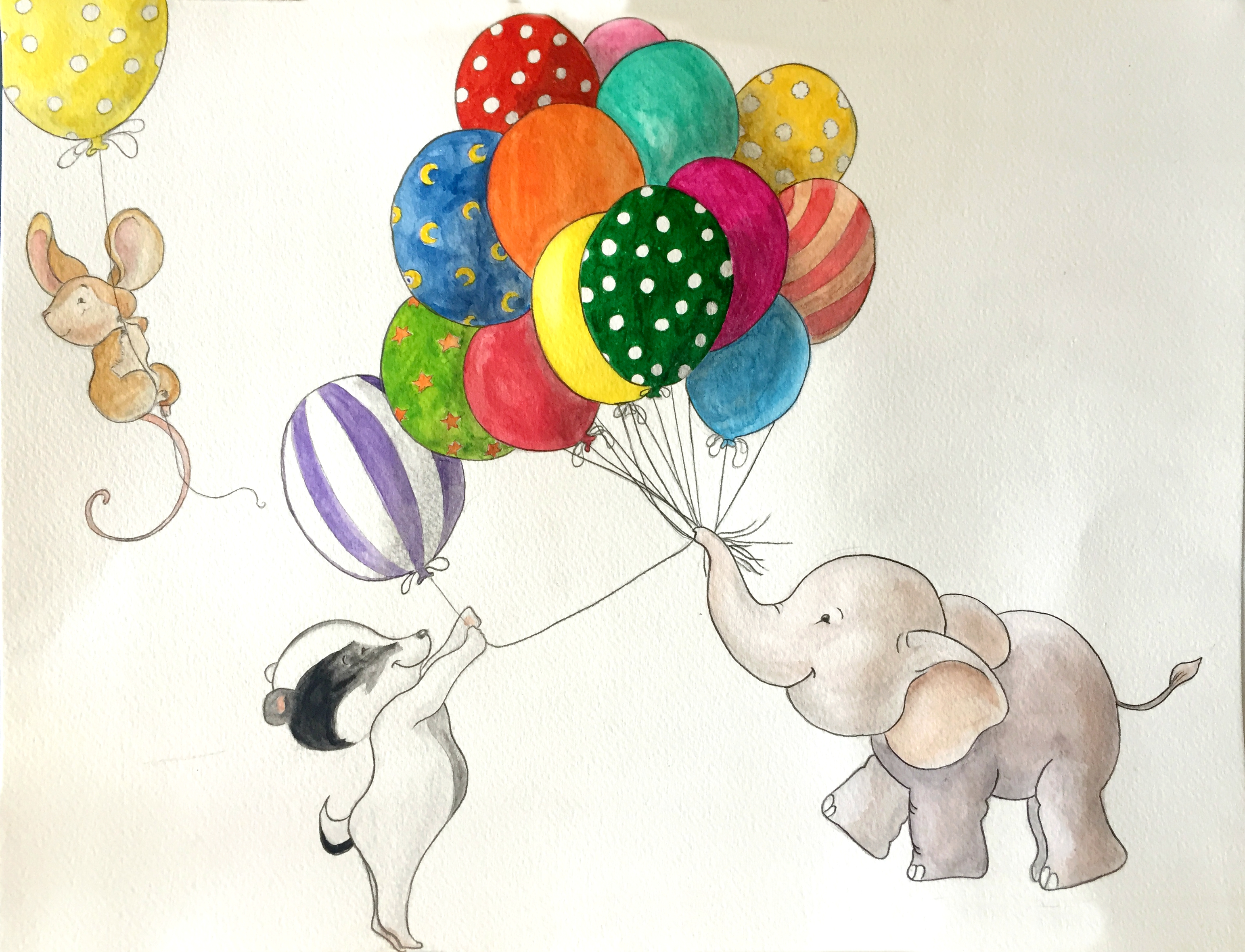 Animaux et ballons
