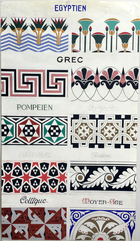 Modèle de frises décoratives