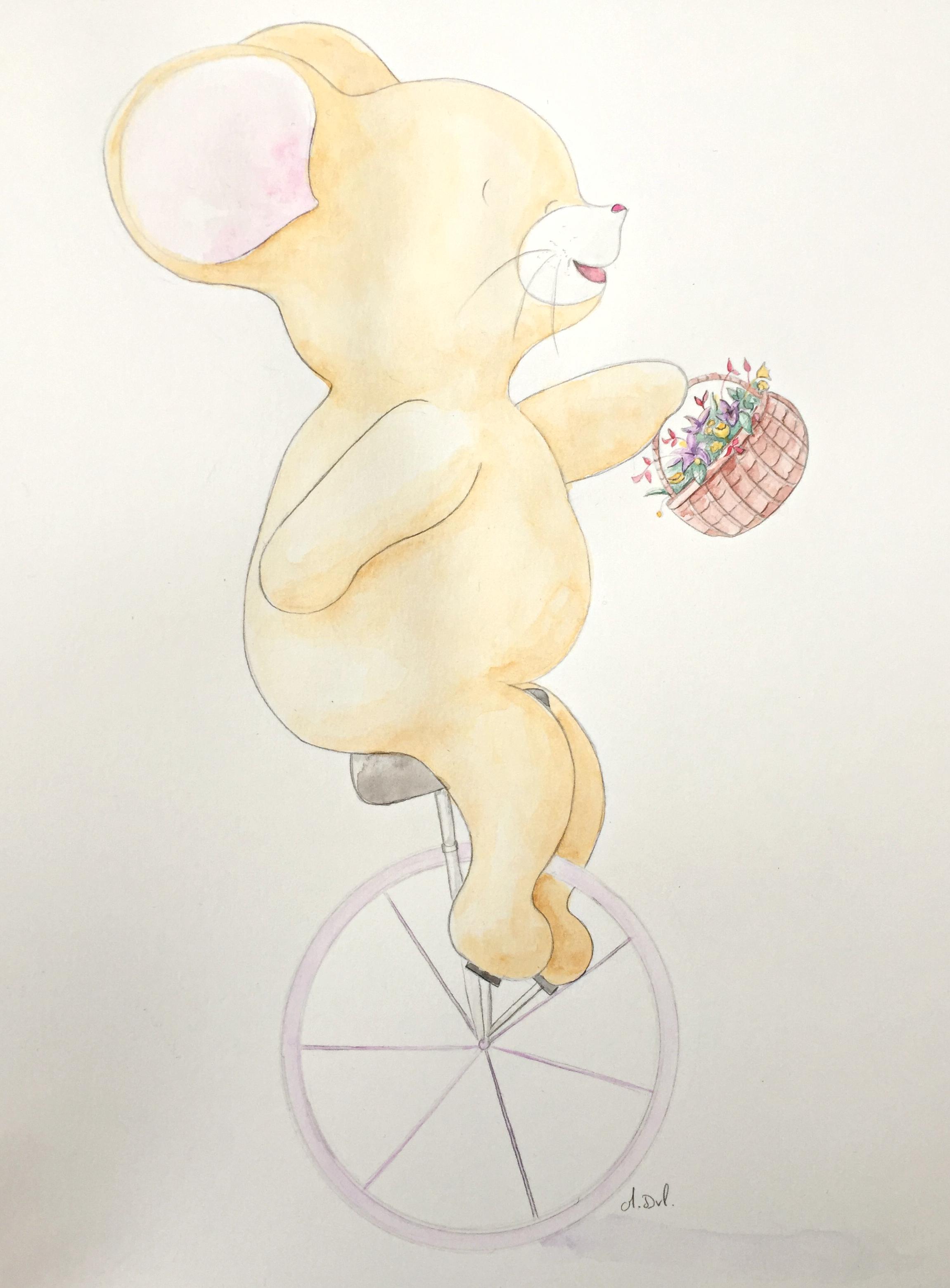 souris monocycle